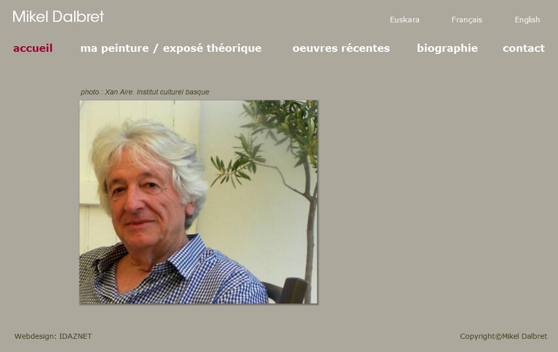 Le site du peintre basque Mikel Dalbret