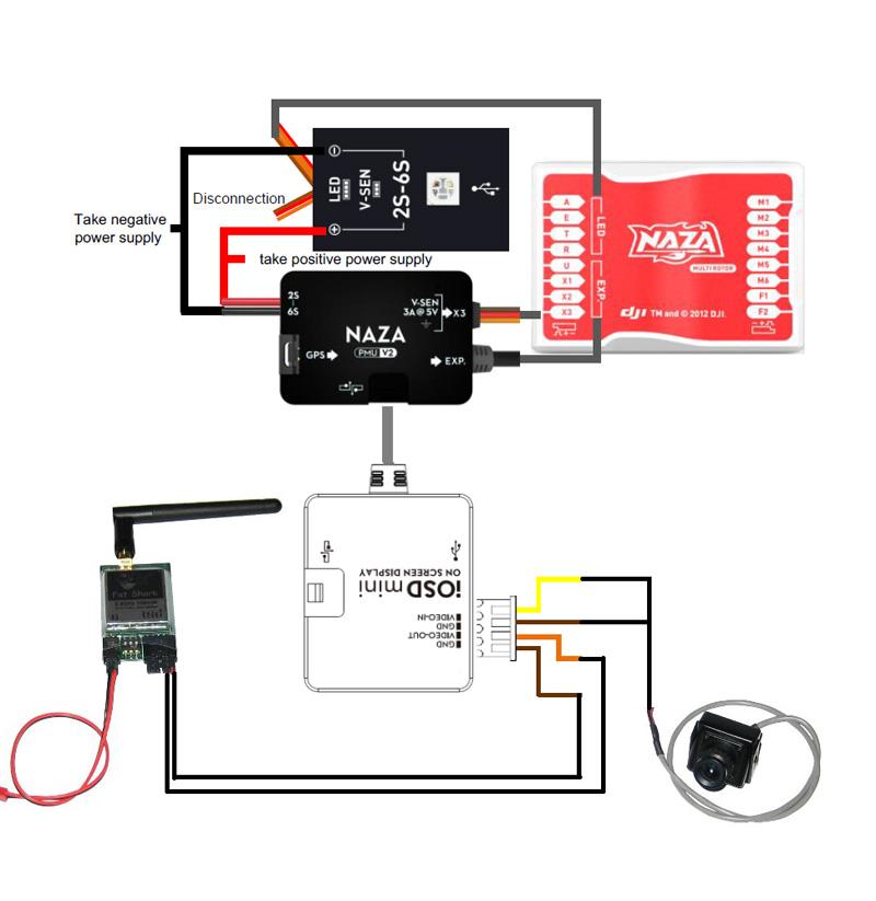 dji naza v2 wiring diagram naza flight controller wire