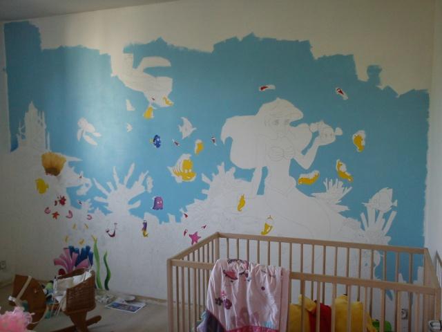 Tout un mur peint sur le th me disney for Peindre un mur deja peint