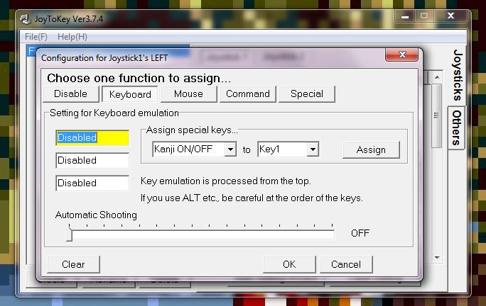 assigner les touches du clavier