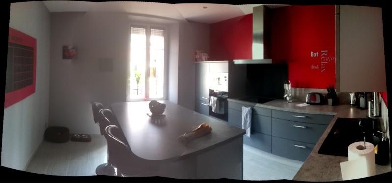 D corer les murs de ma cuisine grise et rouge for Decorer ma cuisine