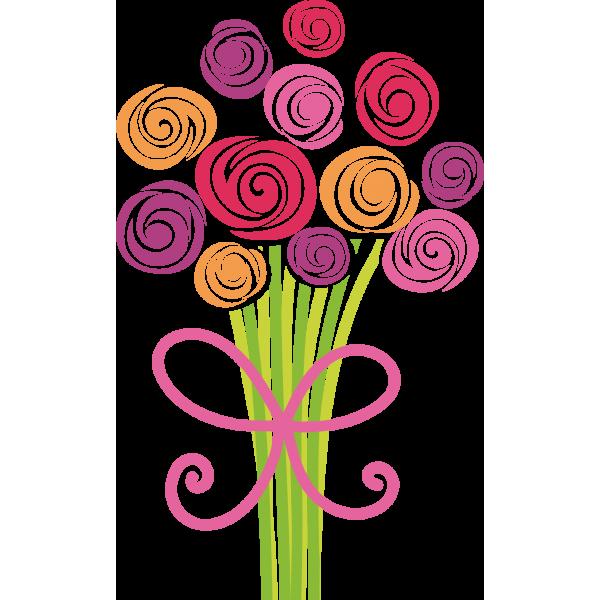 Anniversaire peluche - Dessin de bouquet de fleurs ...