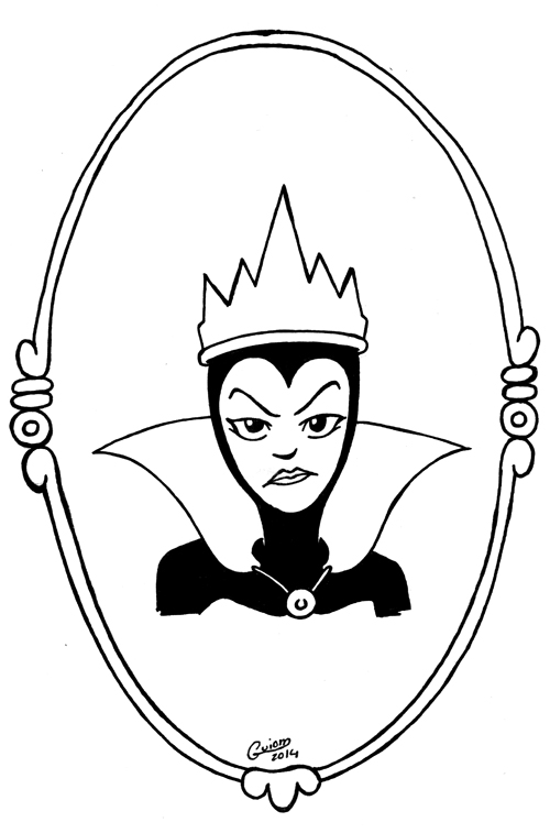 Corrupted Coloring Book Pages Evil Queen Coloring Pages