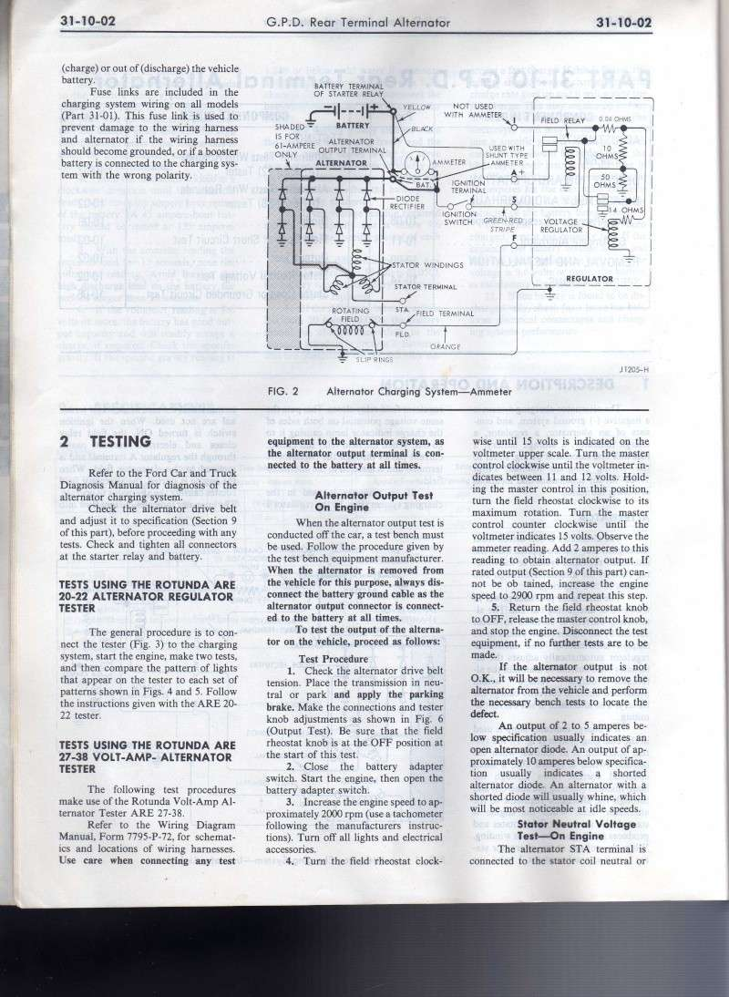 Ampmeter Wiring 1972 Ford Ammeter Diagram Source Car Shop Manual Mo