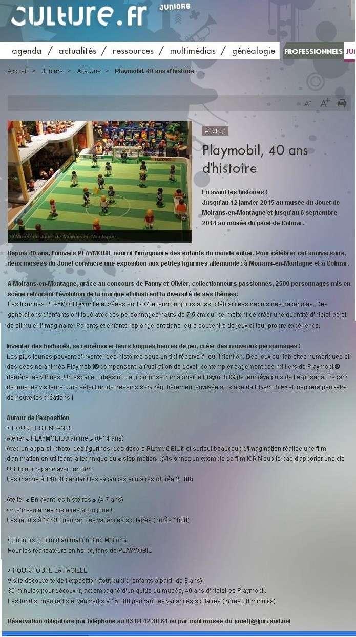 culture.fr expo playmobil moirans en montagne fanny et olivier