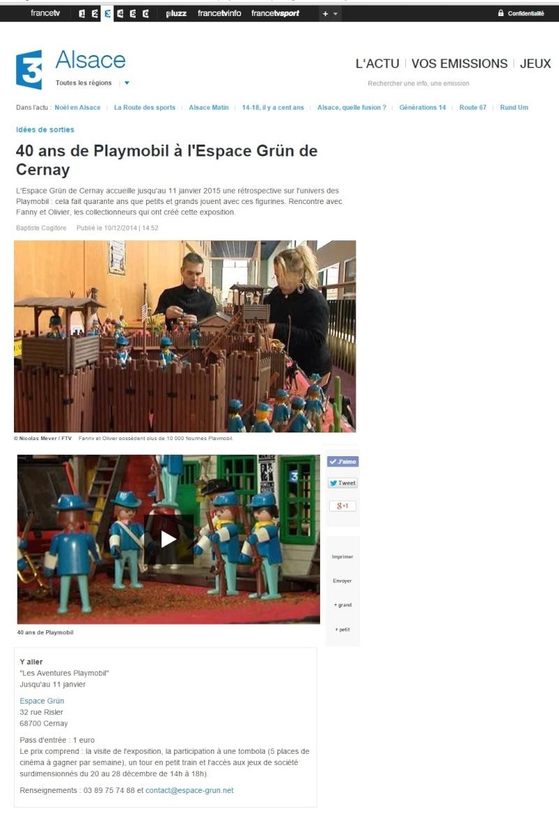 FR 3 alsace expo playmobil cernay 2014 fanny et olivier