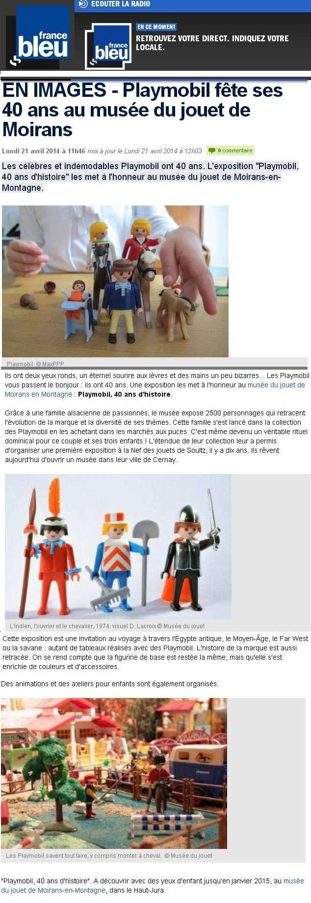 france bleu expo playmobil moirans en montagne fanny et olivier