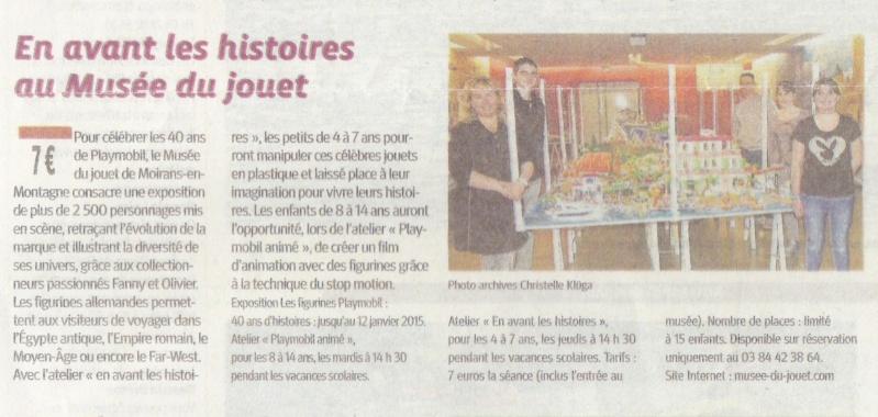 le PROGRES expo playmobil fanny et olivier