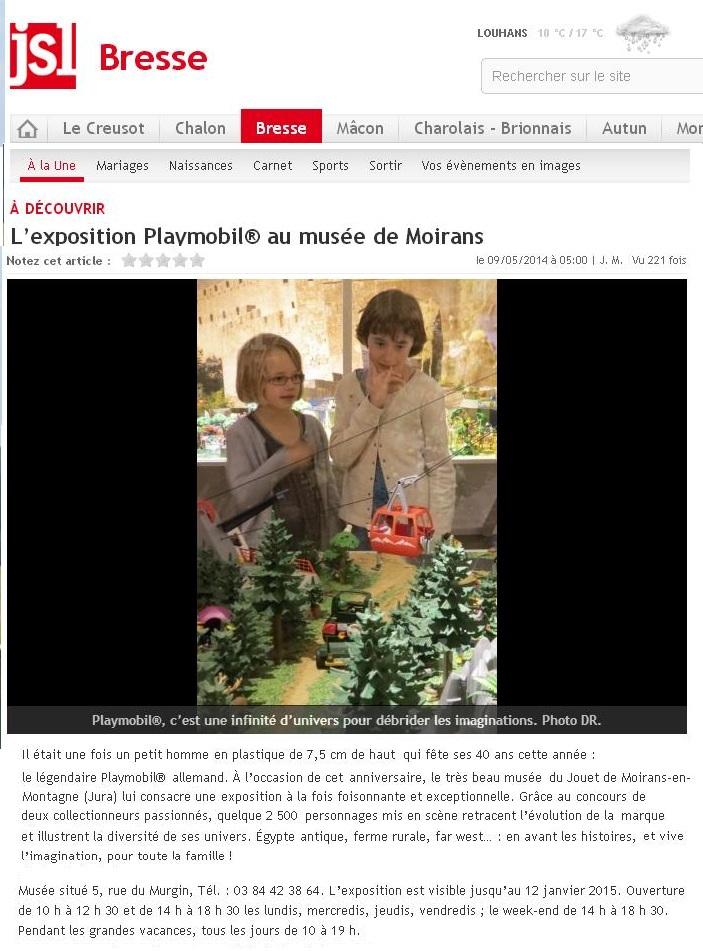 jsl bresse expo playmobil moirans en montagne fanny et olivier