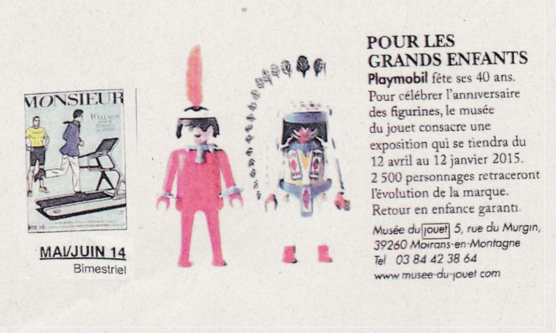 magazine MONSIEUR expo playmobil fanny et olivier