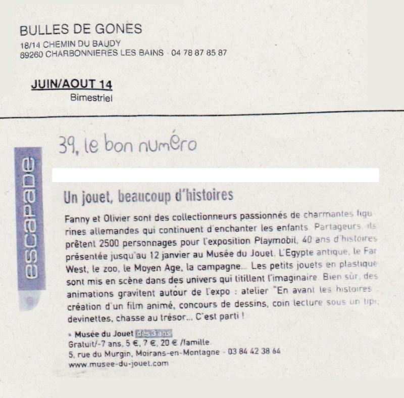 bulles de gones expo playmobil fanny & olivier