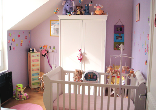 Chantier 2 chambre b b fille for Chambre bebe fille rose pale