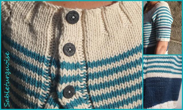 je tricote en blanc.....