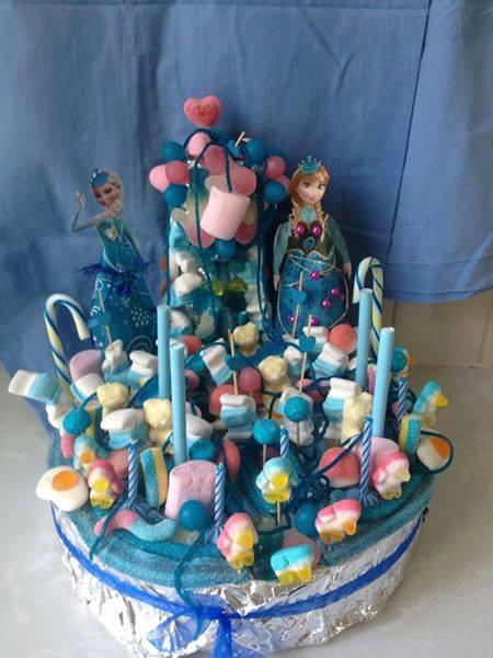 gateaux de bonbons reine des neiges