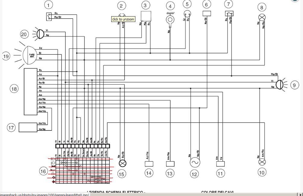 Schema Elettrico Hm Cre 50 : Collegamento contachilometri