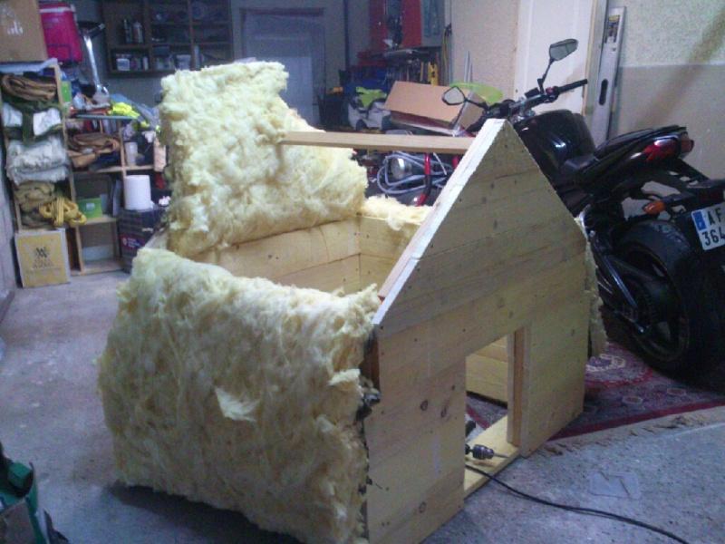 La niche de mon chien - Niche pour chien avec palette ...