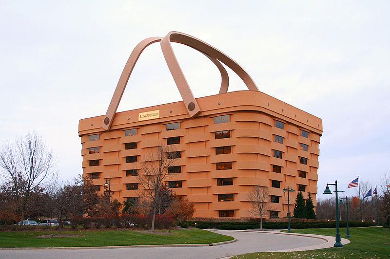 Immeuble en forme de panier de pique nique si ge de longaberger newark ohi - Siege en forme de main ...