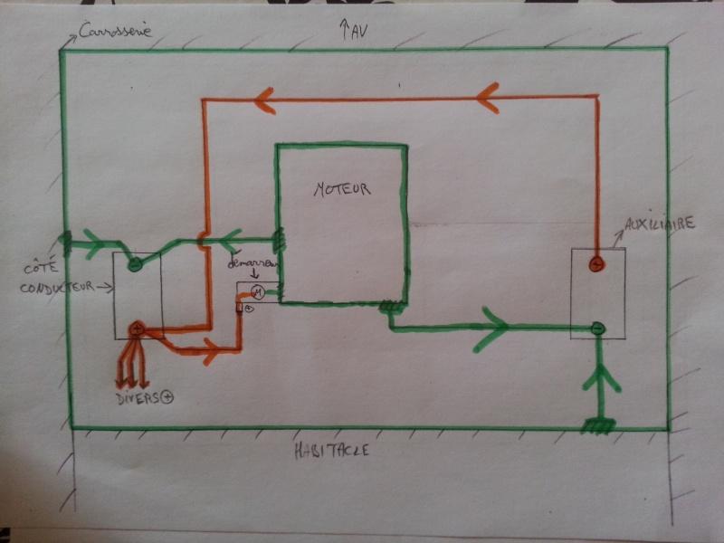 montage coupe circuit kzj 73 avec 2 batteries. Black Bedroom Furniture Sets. Home Design Ideas