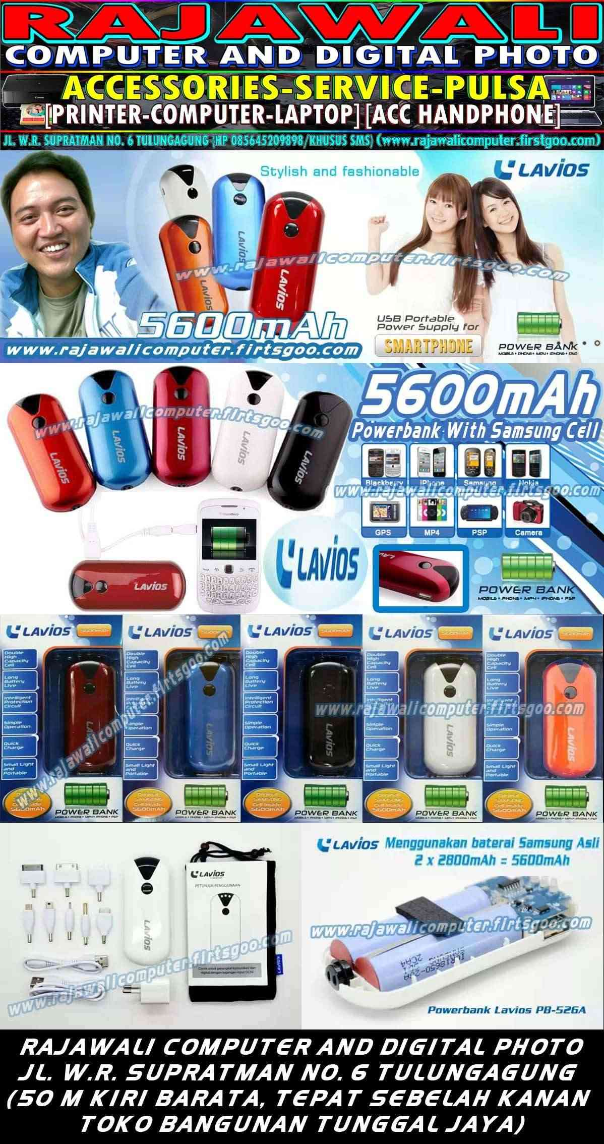 LAVIOS POWERBANK WITH SAMSUNG CELL 5600MAH CAPSULE HIGH CAPACITY AND QUALITY