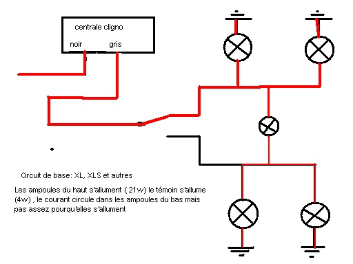 schema branchement relais clignotant. Black Bedroom Furniture Sets. Home Design Ideas