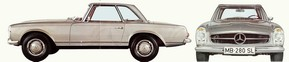 """W113 : le cabriolet SL """"pagode"""" des années 60"""