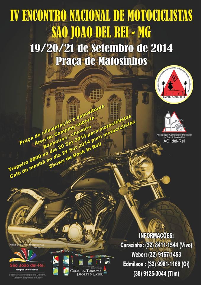 4º Encontro Nacional de Motociclistas de São João del Rei - MG
