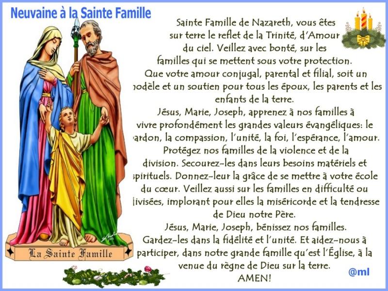 Pour les familles et en famille prions cette neuvaine - Neuvaine st joseph pour vendre sa maison ...