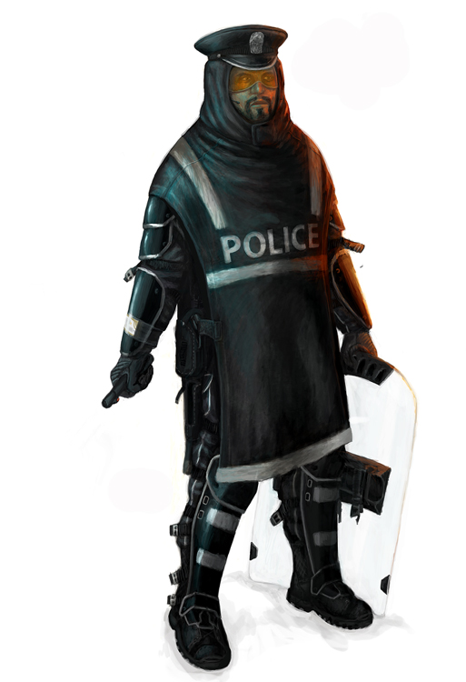 World As we Know It Sins Of The Father Futuristic Police Officer