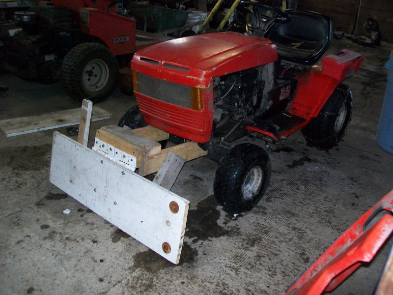 Diy Tractor Accessories : Homemade snow plow for garden tractor ftempo