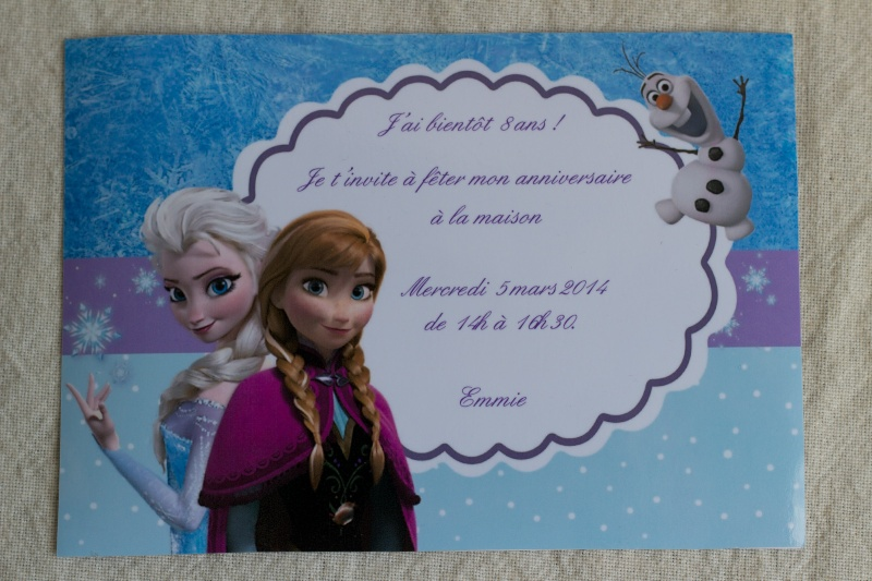 "Top anniversaire ""Reine des neiges"" - smallthings MK35"