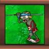 Zombie saltador de pértiga
