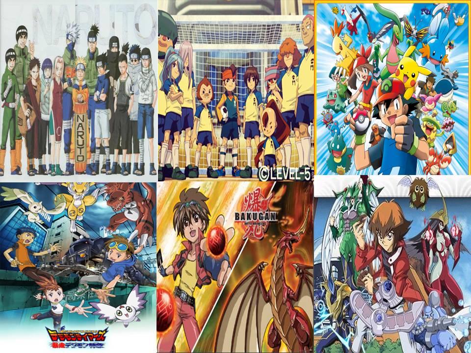 Naruto/Bakugan/Yu-Gi-Oh/Super 11/Pokémon/Digimon