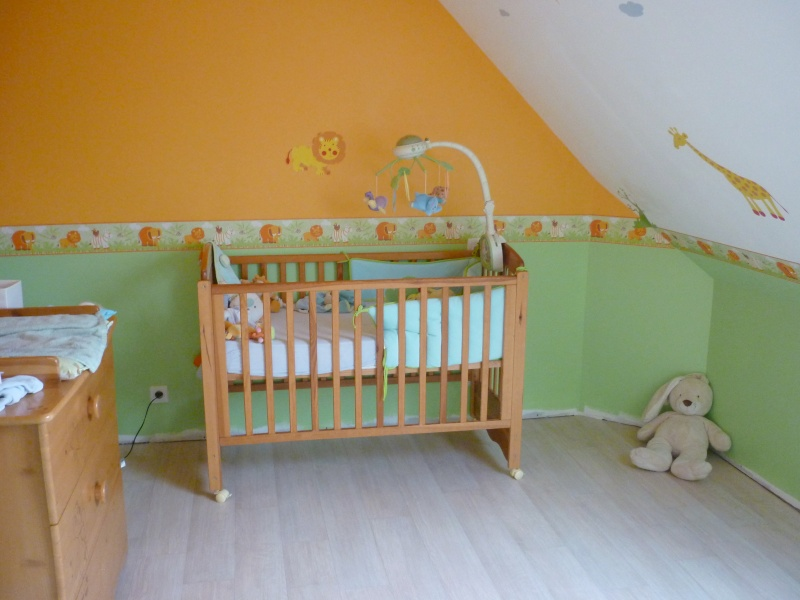 Re d co chambre b b theme jungle - Decoration chambre bebe jungle ...