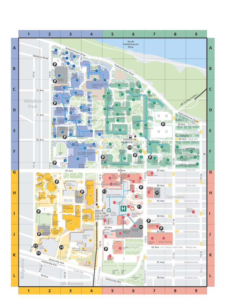 Ualberta Campus Map University Of Alberta Campus Map | compressportnederland