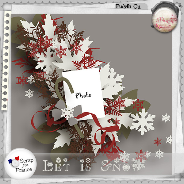 Templates let is snow et little snowflakes de S.Designs dans Janvier s_desi88