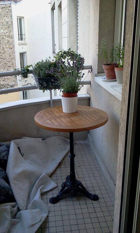 Fabrication d 39 un plateau en bois pour table de bistrot for Fabrication table bois