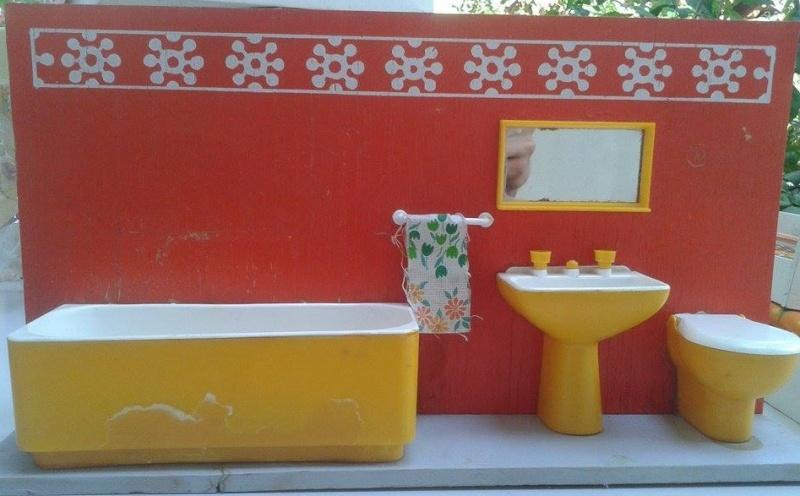 Accessori Bagno Anni 80 : Letto bagno giardino barbie anni legno