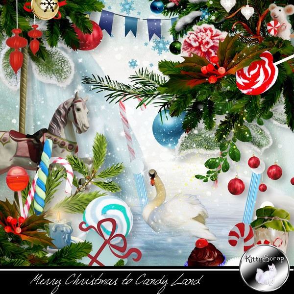 Merry Christmas to candy land de Kittyscrap dans Decembre kitty107