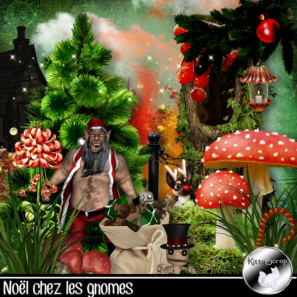 Noel chez les gnomes de Kittyscrap dans Decembre kitty109