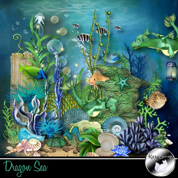 Dragon sea de Kittyscrap dans Juillet kittys21
