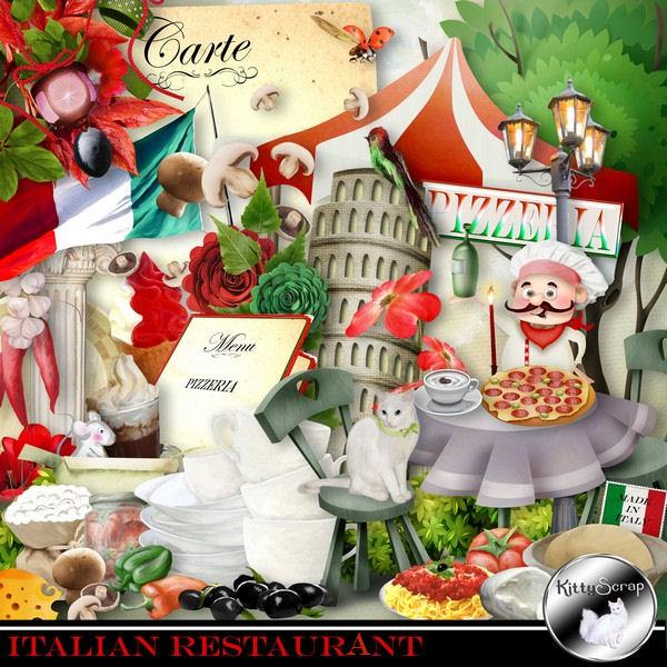 Italian restaurent de Kittyscrap dans Juillet kittys26