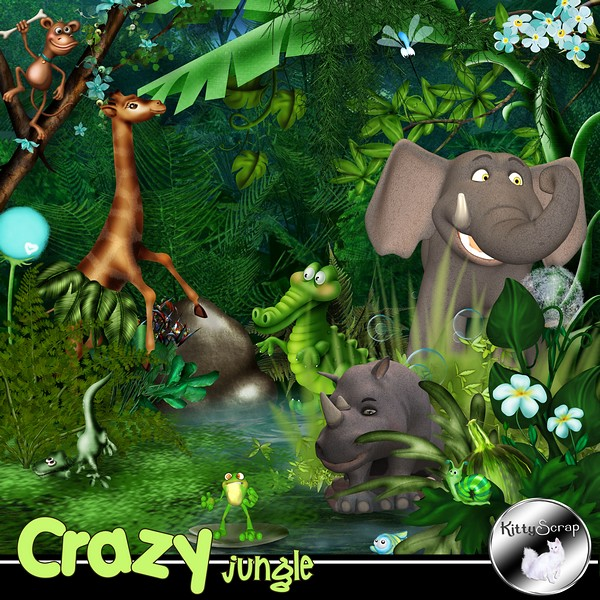 Crazy jungle de Kittyscrap dans Août kittys33