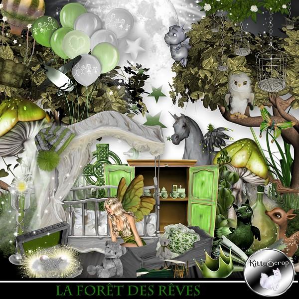 La forêt des rêves de Kittyscrap dans Septembre kittys70