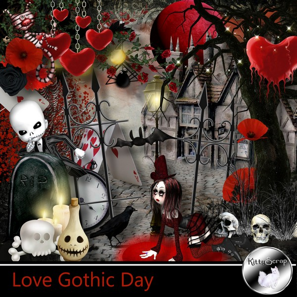 Love gothic day de Kittyscrap kittys99