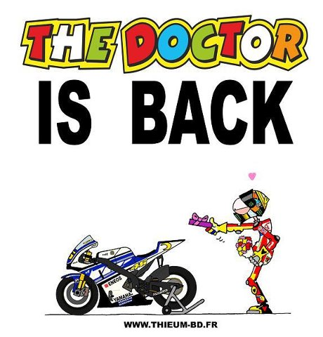 The doctor is backValentino Rossi The Doctor Font