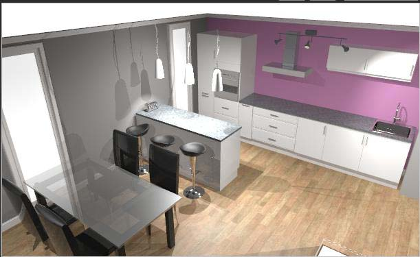 Couleur murs cuisine avec meubles blancs maison design for Couleur mur cuisine avec meuble blanc