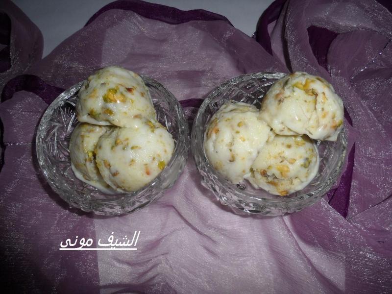 ملعقة صغيرة مستكة مطحونة ربع كوب سحلب(خام مش مضاف ليه