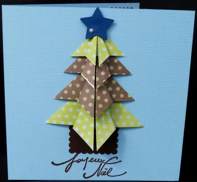 Carte Noel Sapin Pliage Cadeaux De Noël Populaires