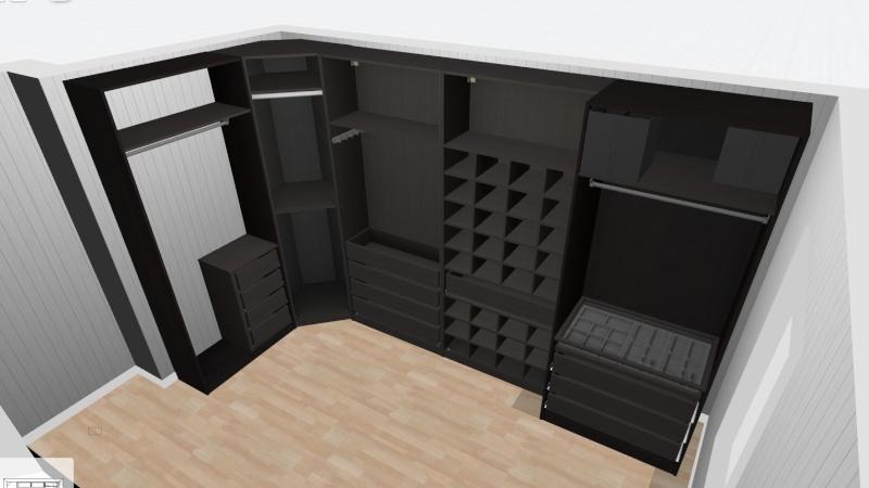 mon projet de dressing. Black Bedroom Furniture Sets. Home Design Ideas
