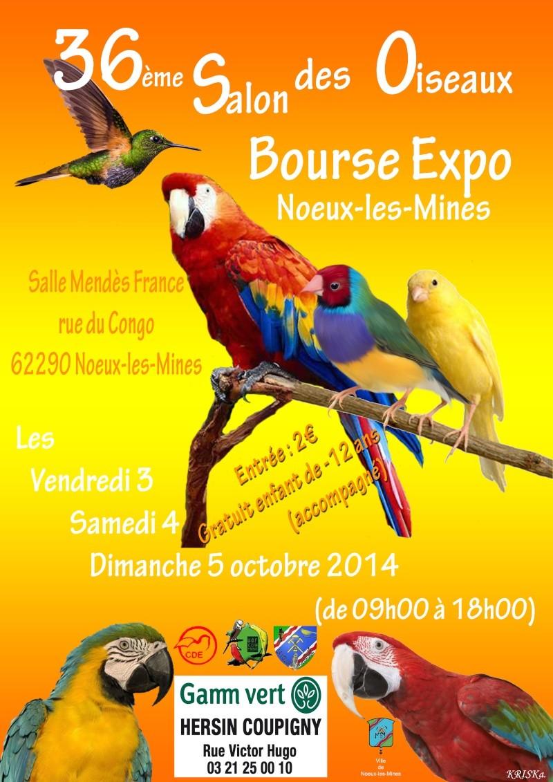 affiche du 36e salon des oiseaux